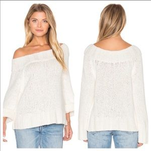 Free People White Off The Shoulder Sweater Size XS